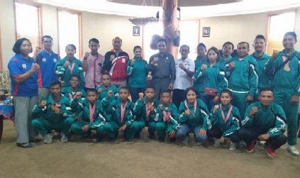 Kejuaraan Sepak Takraw, Manggarai Sabet 14 Medali, Bupati Deno : Kita Bangga