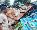 Tiga Bangunan di Pau Ruteng Hancur Diterjang Angin Kencang