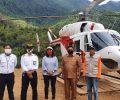 Simulasi Bencana, Helikopter BNPB Mendarat di Wae Rebo