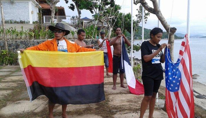Lima Bendera Asing Diturunkan Paksa di Labuan Bajo, Ada Apa?