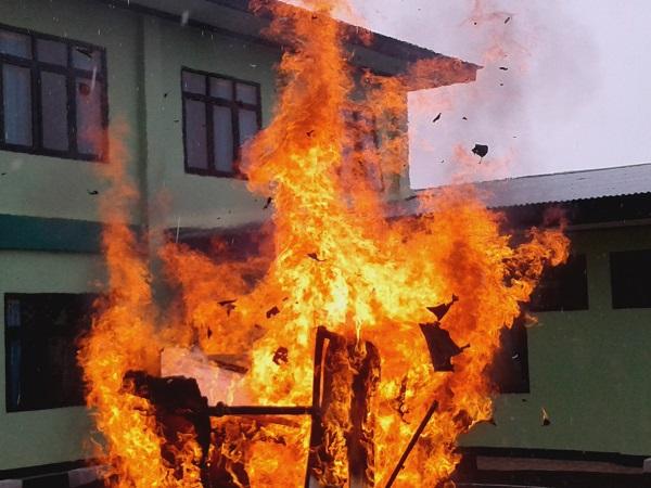 Ada Kebakaran Di Kantor Pengadilan Negeri Ruteng