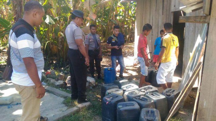 Polsek Reo Amankan 1000 Liter Sopi di Lemarang