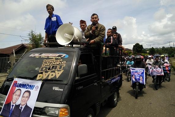 BKH-Litelnoni Mendaftar di KPU NTT, Pendukung HARMONI di Manggarai Gelar Konvoi