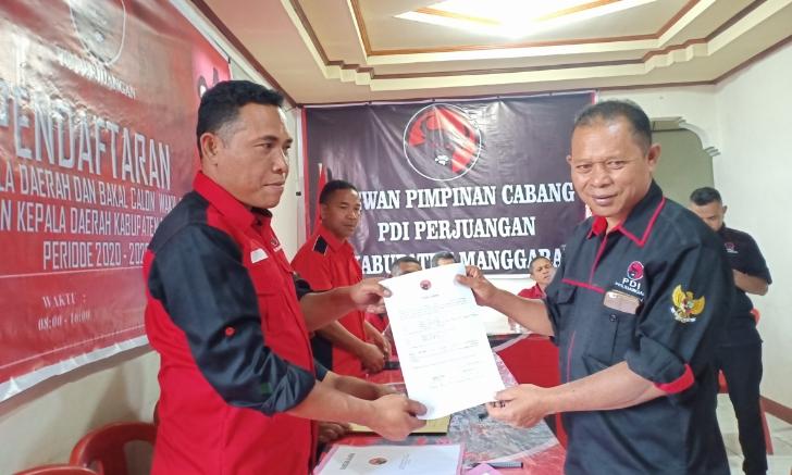 Selain Heri Nabit, Ketua PDIP Manggarai Juga Daftar Sebagai Calon Bupati