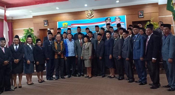 Wakil Bupati Manggarai Lantik 72 Orang Pejabat Eselon III