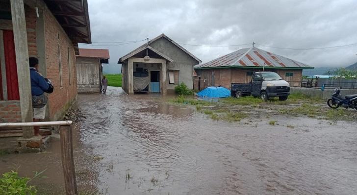 Banjir Desa Siru, Rumah Penduduk dan Sawah Terendam